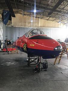 Jet Provost T Mk.5 Under Maintenance.JPG