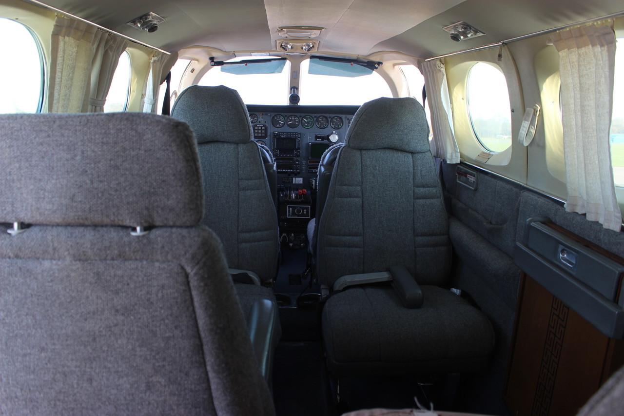N3HK Cessna 340 Interior Rear View Eagle