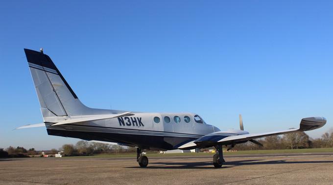 N3HK Cessna 340 Rear View Eagle Motion.j