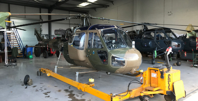 G-BXRS Westland Scout For Sale - Exterior - @ Middle Wallop
