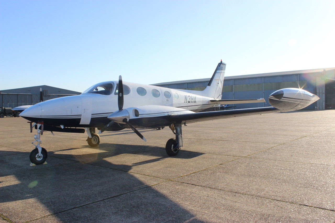 N3HK Cessna 340 Front_Side View Eagle Mo