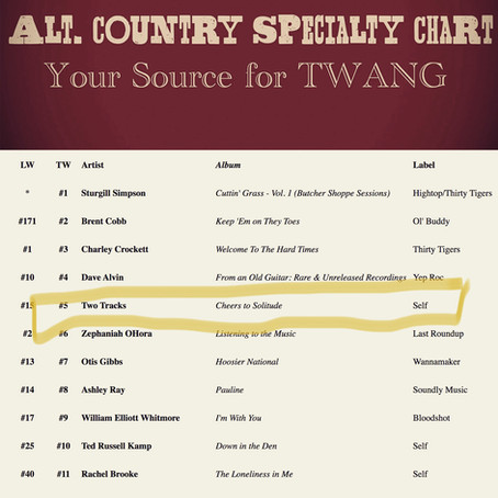 #5 on the Alt-Country Specialty Chart!
