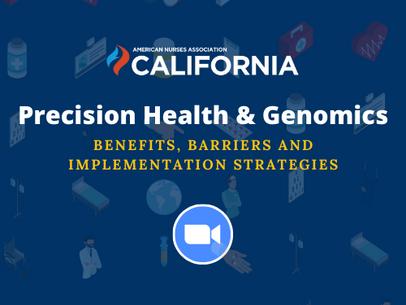Precision Health & Genomics Webinar - (1) CEU