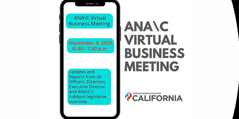 ANA\California Virtual Business Meeting