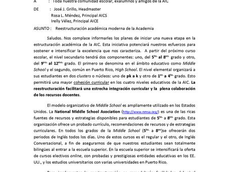 Middle School  AIC 2020