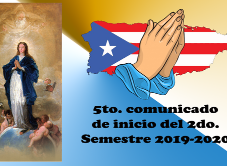 5to. comunicado de inicio del 2do. Semestre 2019-2020