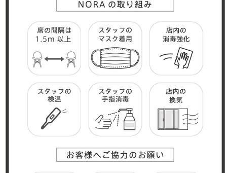 店舗で実施中の感染予防対策について(11/26現在)