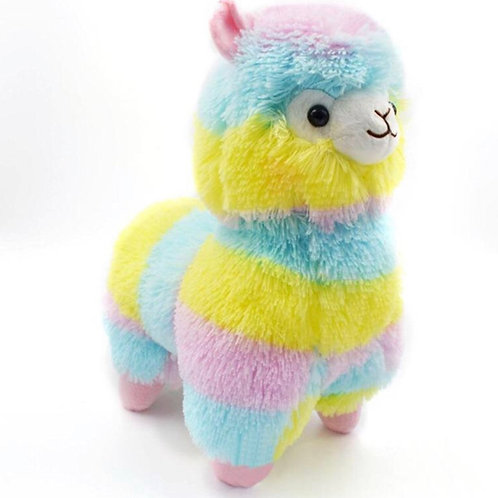 Rainbow Alpaca Plush