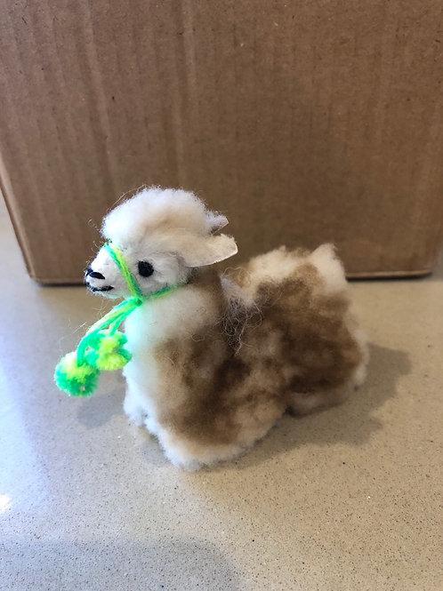 Small baby alpaca figure