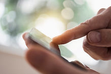 L'utilisation d'un téléphone tactile