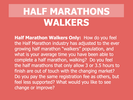 What are Half Marathon Walkers Thinking? We Asked.