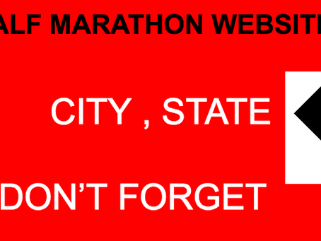 Race Director Tips: Don't forget the City and State on your Home Page of Website