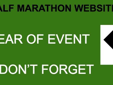 Race Directors - Don't forget to put the YEAR after your race date