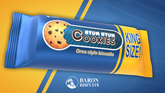 Baron Biscuits Product Animation