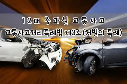 12대 중과실 교통사고