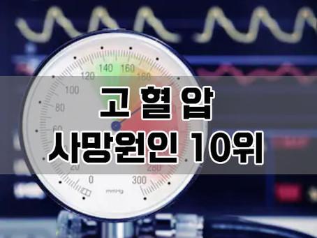 """한국인 사망원인 10위 """"고혈압"""""""