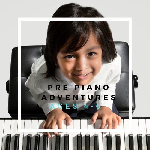 Pre Piano Adventures ages 4 - 6