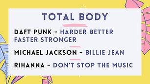 Daft Punk - Harder Better Faster Stronger; Michael Jackson - Billie Jean; Madonna - Don't Stop The Music