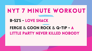 B-52s - Love Shack ; Fergie and GoonRock and Q-Tip - A Little Party Never Killed Nobody