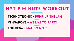 Technotronic - Pump Up The Jam; Vengaboys - We Like To Party; Lou Bega - Mambo no. 5