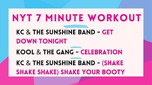 KC and the Sunshine Band - Get Down Tonight ; Kool and the Gang - Celebration ; KC and the Sunshine Band - Shake Your Booty