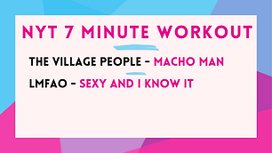 The Village People - Macho Man; LMFAO - Sexy And I Know It