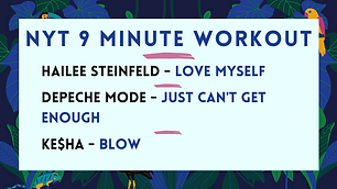 Hailee Steinfeld - Love Myself; Depeche Mode - Just Can't Get Enough; Ke$ha - Blow