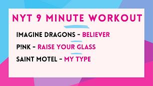 Imagine Dragons - Believer ; Pink - Raise Your Glass; Saint Motel - My Type