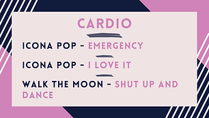 Icona Pop - Emergency; Icona Pop - I Don't Care; Walk The Moon - Shut Up & Dance