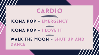 Icona Pop - Emergency; Icona Pop - I Don't Care; Walk The Moon - Shut Up & Dance