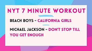 Beach Boys - California Girls; Michael Jackson - Don't Stop Til You Get Enough