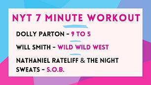 Dolly Parton - 9 To 5 ; WIll Smith - Wild Wild West; Nathaniel Rateliff & The Night Sweats - SOB