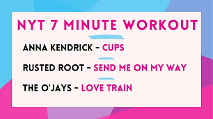 Anna Kendrick - Cups ; Rusted Root - Send Me On My Way; The O'Jays - Love Train