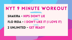 Shakira - Hips Don't Lie; Flo Rida - I Don't Like It (I Love It); 2 Unlimited - Get Ready