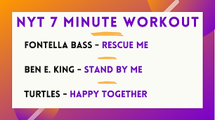 Fontella Bass - Rescue Me; Ben E. King - Stand By Me; Turtles - Happy Together