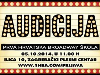 Audicija za Prvu Hrvatsku Broadway Školu