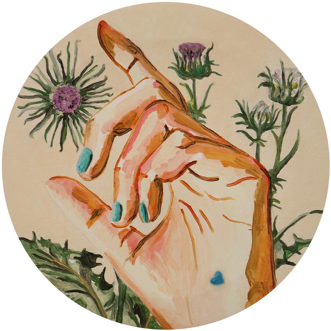 Le cœur flou sur la main