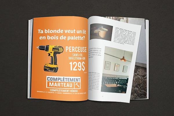 publicité revue magasine construction kaz design karine chevrier