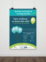 affiche poster santé mentale association kaz design karine chevrier