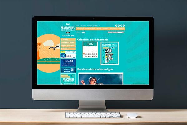 website site web internet événementiel événement évènement évènementiel francofolies montréal kaz design karine chevrier