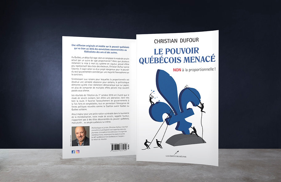 Le pouvoir québécois menacé Christia Dufour les éditeurs réunis Karine Chevrier graphiste illustration