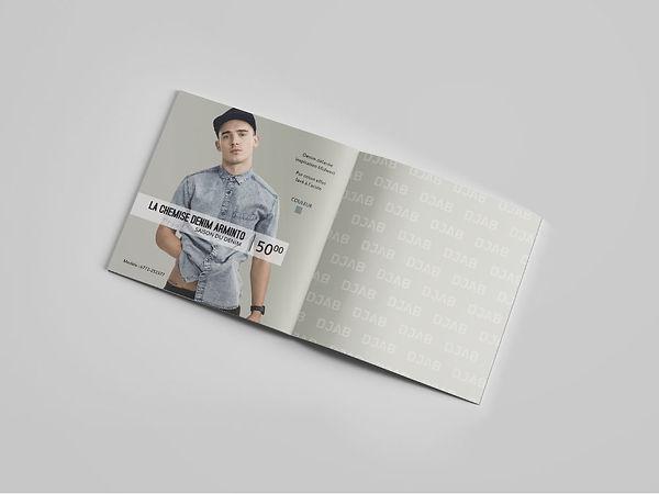 look book livret feuillet poste postal publicité simons djab kaz design karine chevrier