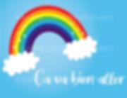 Ça va bien aller arc-en-ciel covid-19 covid19 illustration vectorielle