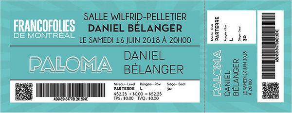 billet ticket show music spectacle festival kaz design karine chevrier francofolies francophone