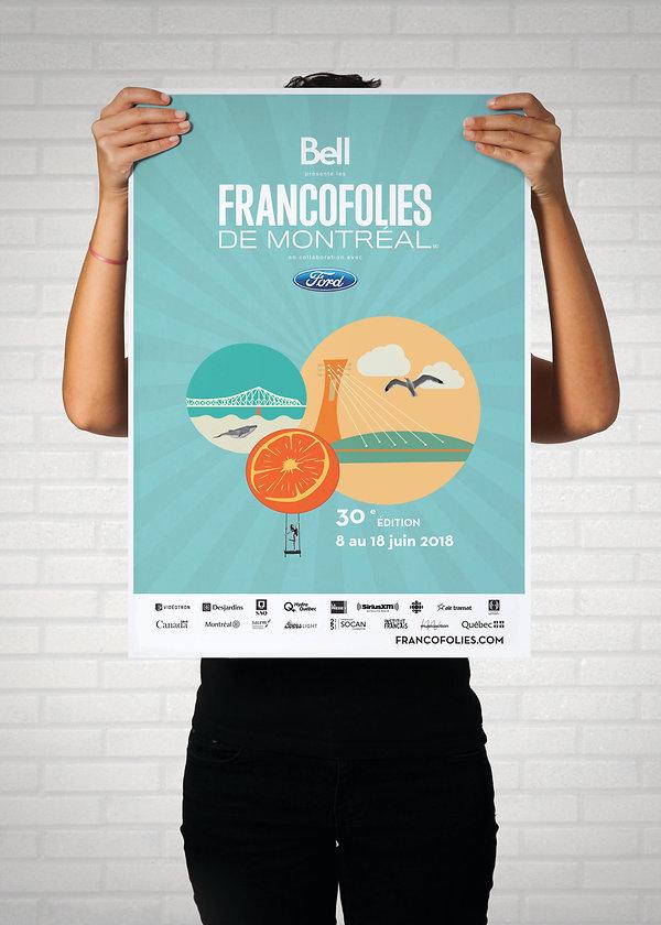 affiche poster show music musique francophone francofolies kaz design karine chevrier