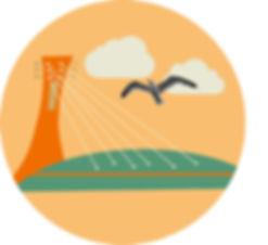 illustration montréal stade olympique stadium olympic music musique kaz design francofolies festival