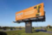 mockup panneau publicitaire autoroute kaz design