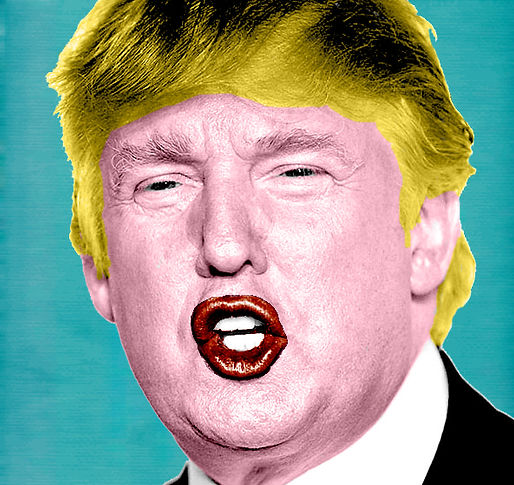 donald trump andy warhol pop art photoshop artwork pastiche kaz design