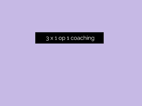 3 X 1 op 1 coaching