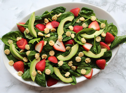Strawberry Salad with Asiago Cheese Crisps